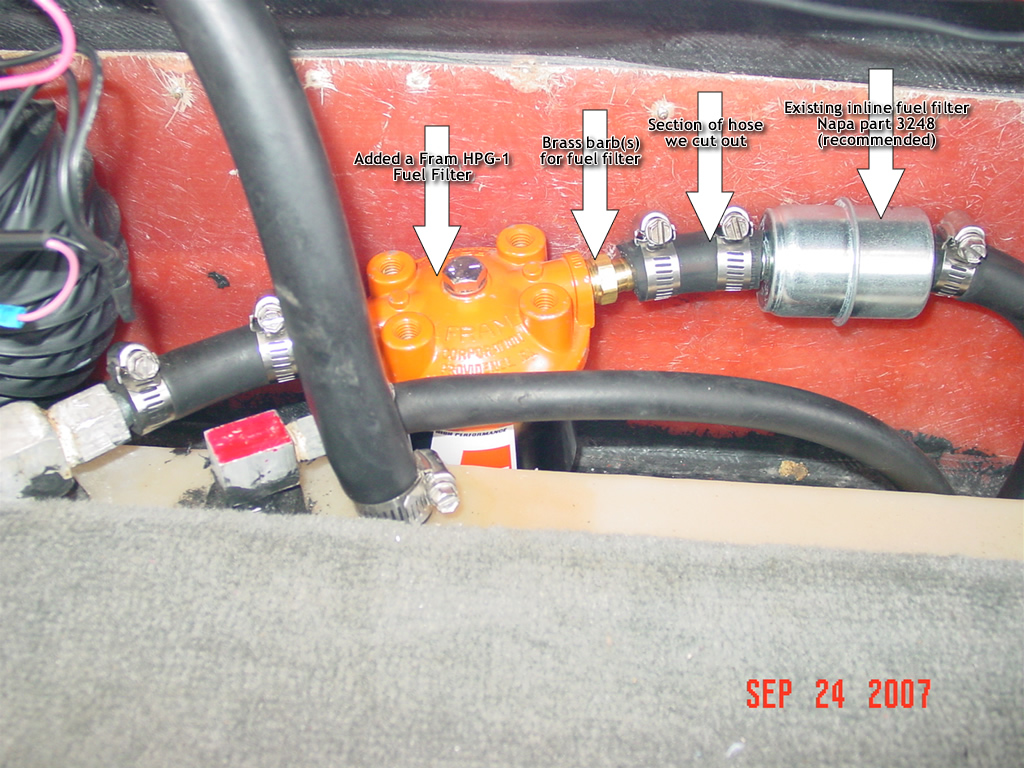 Inline Spin On Fuel Filter Modifications Accessories In Line Finger Nail Polishas A Sealer For Threading Barbed Connectors Into Housing Phillips Screw Driver To Remove Carpet Back Board Trunk