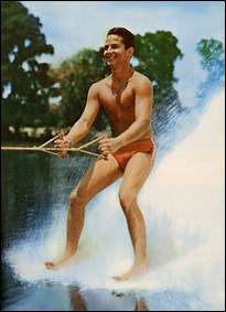 Dick Pope Jr., one of the originators of Barefoot skiing